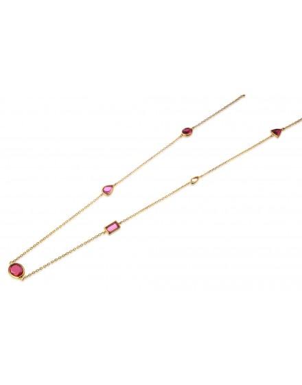 Gargantilla piedras color rubí