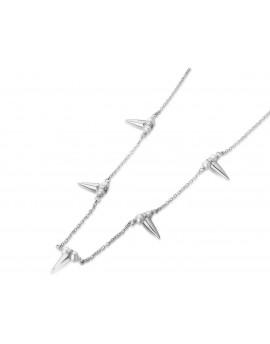 Gargantilla pinchos y perlas en plata