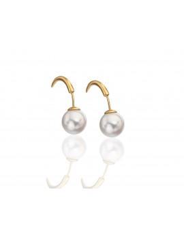 Pendiente perla cierre cuerno