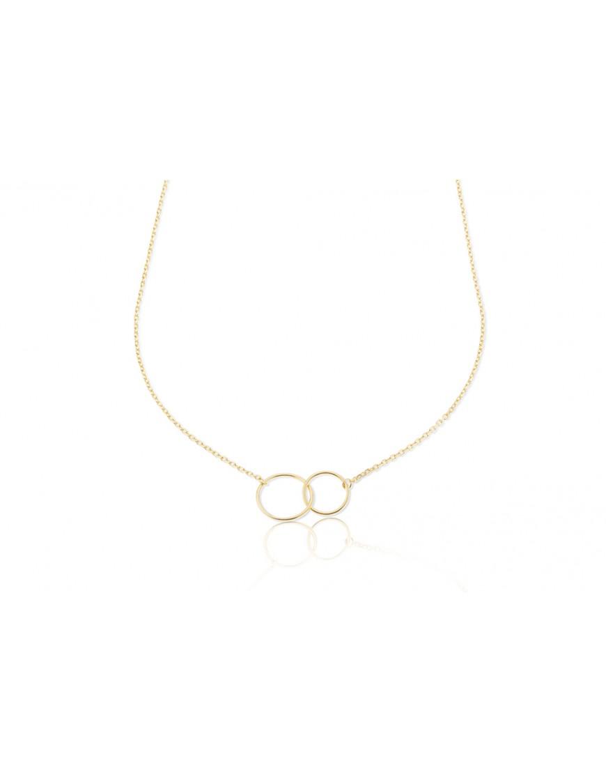ad0d329c2b4c Gargantilla de plata cubierta de oro con círculos unidos