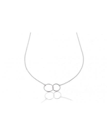 Gargantilla de plata círculos unidos